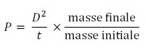 Formule de pointage