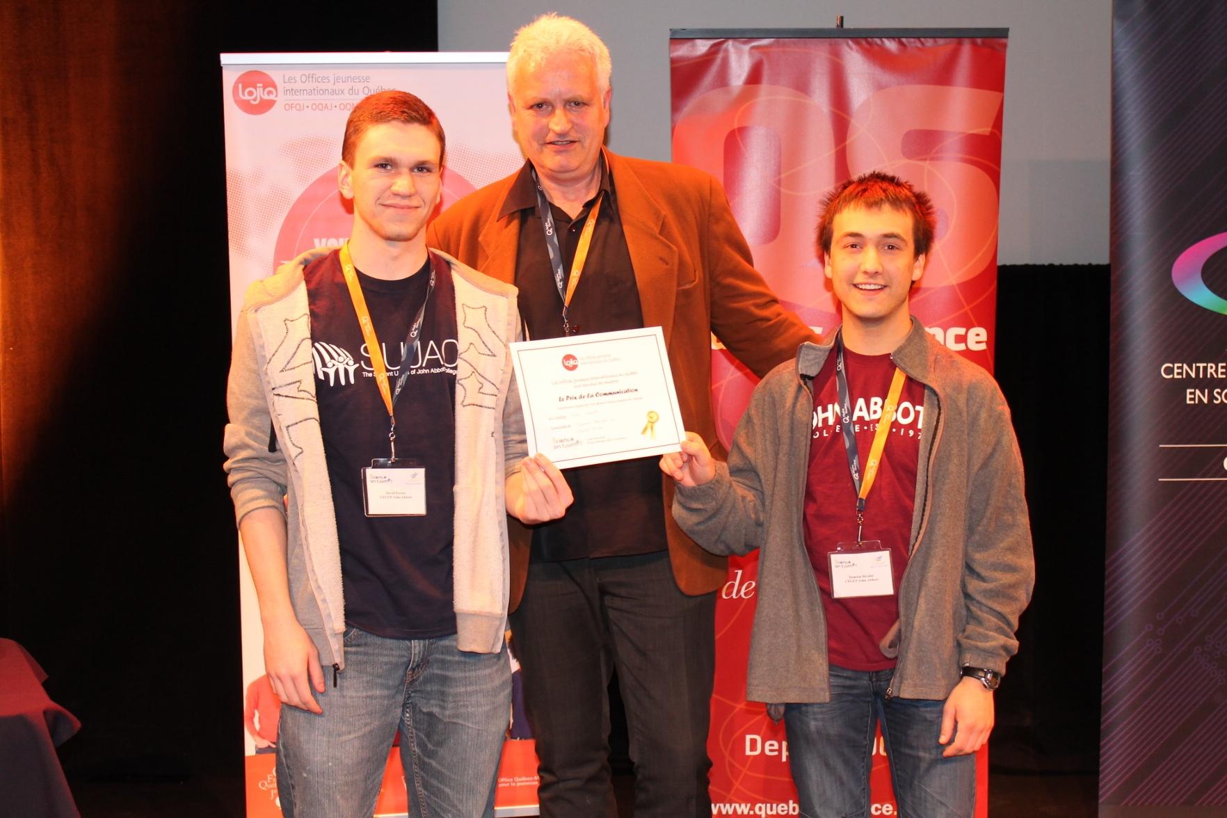 College John Abbott - Prix communication